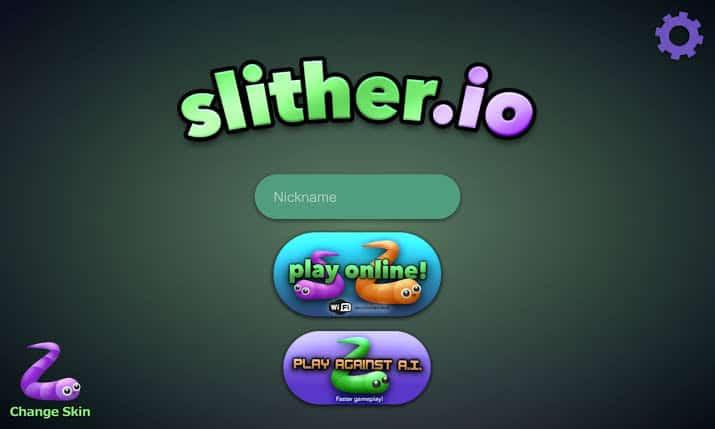لعبة الدودة slither-io
