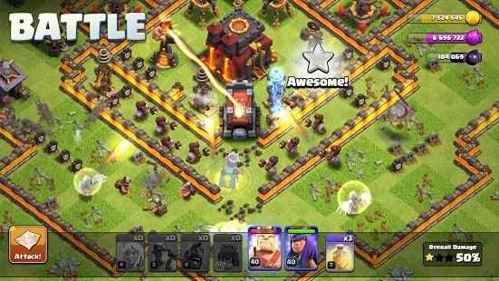 بناء القاعدة في لعبة Clash of Clans