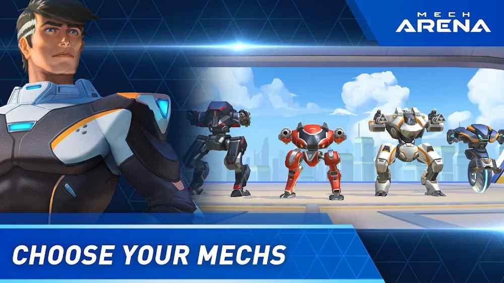 مباريات وتحديات لعبة Mech Arena: Robot Showdown