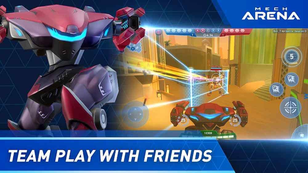 لعبة Mech Arena: Robot Showdown للجميع